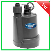 1/4 Hp Submersible Thermoplastic Utility Pump Water Sump Flooding Drain Pool New