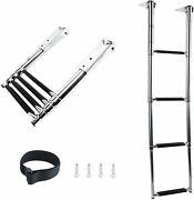 4 Step Stainless Steel Telescoping Step Ladder 900 Lbs Max Lift For Yacht Pool