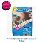 Purina Cat Chow Dry Cat Food Complete 20 Lb. Bag
