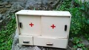 Vintage Wooden Old Medicine First Aid Box Cabinet 1960s