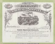Pabst Brewing Company.....unissued Common Stock Certificate