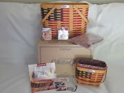 Longaberger 1998 25th Anniversary And Collectors Club Flag Magazine Basket Combos