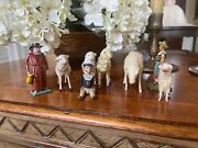 Group Of Antique German Toys And Putz Animals- 1900and039s