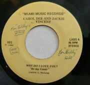 Carol Dee And Jackie Vincent Miami Music Records Nm Vinyl 45rpm Private Press...