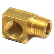Attwood Boat Fuel Line Fitting 8887-7   Elbow 1/4 Inch Brass