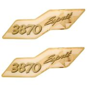 Cruisers Yachts Boat Decal   3870 Esprit Foam Filled / Raised Pair