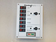 Switch Panel W/voltmeter For Catalina Sailboat Marine Whit/blk Pb6004