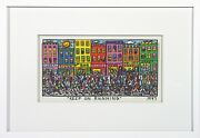 James Rizzi Andbdquo Keep On Running Andldquo3d Konstr. From 1997 Autographed Num Framed