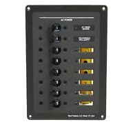 Bass Products Boat Breaker Switch Panel | 5 1/2 X 8 Inch Aluminum