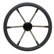 Boat Destroyer Steering Wheel 1525 | 15 Inch 25 Stainless Gray