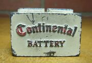 Continental Battery Vintage Advertising Paperweight Gas Oil Auto Sign Figural