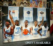 Hand Signed Roy Williams Unc Point Guard Dynasty Canvas