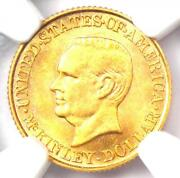 1916 Mckinley Commemorative Gold Dollar Coin G1 - Certified Ngc Ms61 Unc Bu