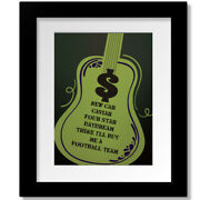 Money By Pink Floyd - Classic Rock Lyric Artwork Print, Poster, Canvas Or Plaque