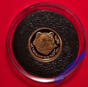 25 Roubles 1993 Russia Protect Our World The Brown Bear Gold Proof Rare