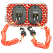 Wellcraft Boat Emergency Switch Panel 025-4134 | 6 X 3 3/8 Inch Red Dual