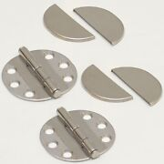 Southco Stainless 2 5/8 Marine Boat Hinges W/ Leaf Covers N6-5a-7vc7-24 Pair