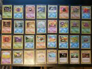 Pokemon 1st Edition Complete Fossil Uncommon And Common 32 Cards Nm