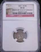 1831 Capped Bust Silver Half Dime Ngc Vf25 Special Stackand039s Holder Ge307
