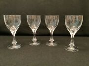 """4 Baccarat Crystal Monaco Stemware-verre No. 2-7"""" Tall-water Or Red Wine"""