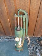 Rare Vintage Cast Iron Hand Water Pump + Cylinder 25 High Patented 1928 Beatty
