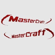 Mastercraft Boat Brand Decal Set 750704   2007 Pro Wakeboard Red 2pc