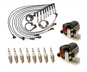 Ignition Kit Coils + Wires + Bosch Spark Plugs For Mercedes 500sel S420 S500