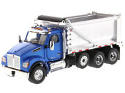 Kenworth T880s Sffa Stampede Dump Truck Blue And Chrome 1/50 Diecast Masters 71078