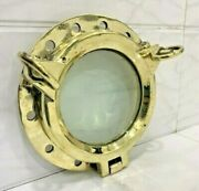 Replica Vintage Style Marine Ship Brass Porthole/window With Two Dogs Lot 5