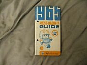 1965 San Diego Chargers Media Guide Yearbook John Hadl Program Lance Alworth Afl