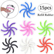 15x Refill Rubber Pads Make Up Tool Replacement Eyelash Curler Circle Toe Aeh2e