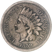 1859 Indian Head Cent Very Good Penny