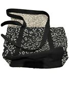 Thirty One Demi Day Bag New No Package Luxe Leopard Weave