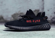 Adidas Yeezy Boost 350 V2 Cp9652 Kanye West Core Black Red Mens Size 10.5 Bnib