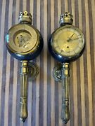 Vintage Westwood Wall Sconce Humidity Guage And Clock German Made Beautiful 🔥