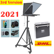 2021 New 20 Folding Portable Teleprompter For Phone Dslr Interview+tripod Case