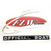Flw Outdoors Boat Raised Decal | Official Boat 7 5/8 X 5 1/4 Inches