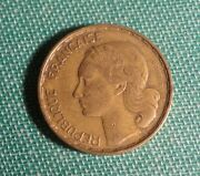 French Coin 1951 France 50 Francs Coin Aluminum Bronze Rooster