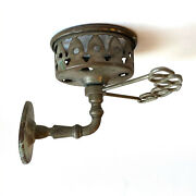 Antique Brass Toothbrush And Cup Holder Wall Mount Victorian Vintage Farmhouse