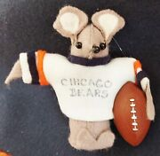 Chicago Bears Ugly Mouse Or Rat Ornament