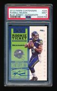 Psa 9 Russell Wilson 2012 Panini Contenders Rookie Ticket Blue Jersey Auto Rc Sp