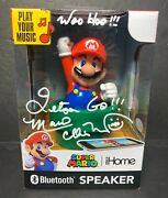 Charles Martinet Signed Mario Ihome Bluetooth Speaker Psa 9a33582