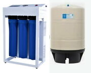 Reverse Osmosis Water Filtration System 1200 Gpd - Dual Booster Pump - 20g Tank