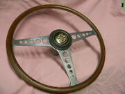 Early Jaguar And03961 And03962 Xke E Type Steering Wheel Flat Floor / Side Bonnet Lock