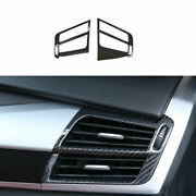 For Bmw X5 X6 F15 2014-2018 Dry Carbon Fiber Left And Right Air Outlet Vent Trim