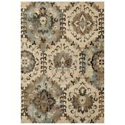 Mda Home Antique 10and039x14and039 Polypropylene Fabric Area Rug In Beige/brown