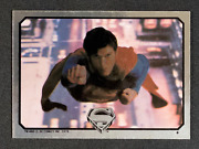 1978 Superman Rookie - Chrome Foil Sticker Card - Very Rare - Dc Comics Zooming