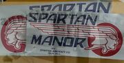 Spartan Manor Travel Trailer Vintage Style Decal 24 Or 20 Long Red White And Bl