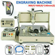 2200w Usb 4 Axis Cnc 6090 Router Engraver 3d Carving Drilling Machine Cutting Us