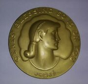 1939 Society Of Medalists Bronze Medal 20 John Gregory Ceres Blessing
